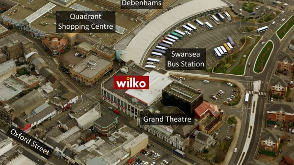 Wilko | | Singleton Street | |  | Swansea | | SA1 3QN