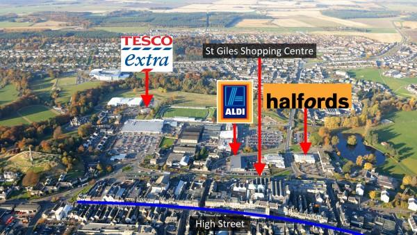 Halfords | | Lossie Wynd North | |  | Elgin |  | IV30 1GU